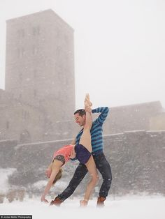 See this image of New York, NY - Michelle Joy and Michael McIlwee in @Jordan Matter's NY Times Bestselling book: Dancers Among Us