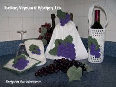 kitchen crochet | Italian Vineyard Grape Kitchen Crochet Pattern