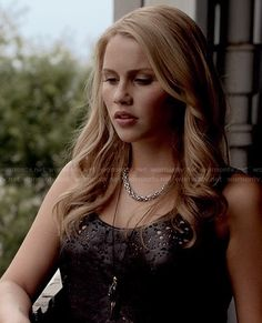 Rebekah's grey distressed tank top on The Originals.  Outfit Details: http://wornontv.net/20284/ #TheOriginals