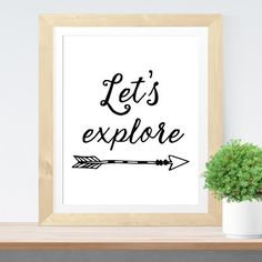 Affiche citation aventure 'Let's explore' Affiche par paperblooming