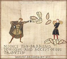 "Bayeux Tapestry Version of saying ""Shut Up And Take My Money"""
