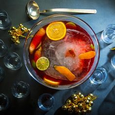 Jungle Bird Punch.  Yum!  Campari's in it!