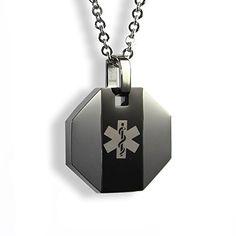 SOS Talisman ST19 Genuine Mans Medical Symbol ID Alert Allergy Diabetes Epileptic Bracelet. Stainless Steel. w7y2W9J