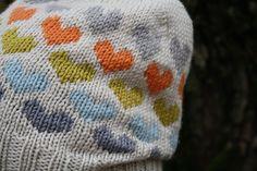 knit #heart #hat