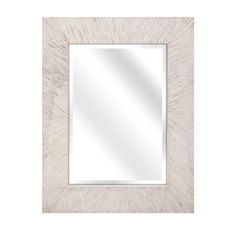 Imax Embry Mother of Pearl Mirror, White