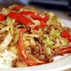 Black Pepper Beef and Cabbage Stir Fry Allrecipes.com