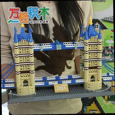 51.52$  Buy here - http://ali9n1.worldwells.pw/go.php?t=32789039228 - London Twin Bridge Building Blocks Assembled Toys Model 1033PCS ABS Plastic Children Combination Toys Best Gift 51.52$