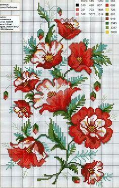 Malva cross-stitch pattern