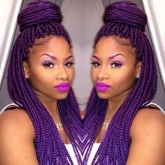 These purple braids are giving me my life!!!