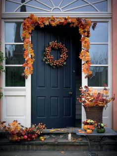 Really celebrate the season with autumnal door decorations