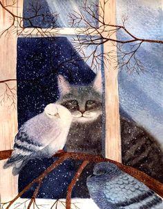 http://www.liveinternet.ru/users/lviza_neo/post379644630/Милославская Екатерина. Котик хочет гулять
