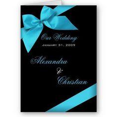 White, Blue, Wedding, Black, Modern, Invitation, Card