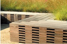Wood seating - Could be used as deck edging?