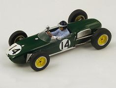 Lotus 18 Number 14 (Jim Clark - Portuguese GP 1960) in Green (1:43 scale by Spark S1840)