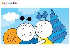 Bartos Erika két népszerű figurája messzire utazik, hogy találkozzanak rokonaikkal! Babóca rokona szintén egy katicabogár, de ami nagyon furcsa, hogy sárga színű, és csak hét petty tarkítja a hátát. És Bogyó rokon nélkül marad? Vagy neki is van valahol egy távoli csiga-rokona? Írta: Bartos Erika. Rajzolta: Bartos Erika. A diafilm kódja: N0403 Minion, Snoopy, Marvel, Fictional Characters, Products, Minions, Fantasy Characters, Gadget