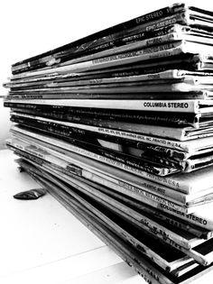 old vinyl records #music #blackandwhite #records #vinyl http://www.pinterest.com/TheHitman14/black-and-white/