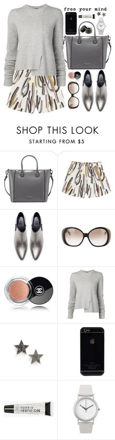 """""""Silver and Grey"""" by crblackflag ❤ liked on Polyvore featuring Charles Jourdan, MSGM, Zara, Victoria Beckham, Chanel, Proenza Schouler, Dana Rebecca Designs, Torrid, Normal Timepieces and casual"""