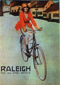 Vintage Raleigh Cycle Poster by Paul Fillingham, via Flickr