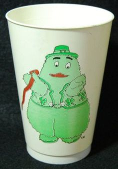 "1979 McDonald's SHAMROCK SHAKE Cup w/ ""Uncle O'Grimacey"""