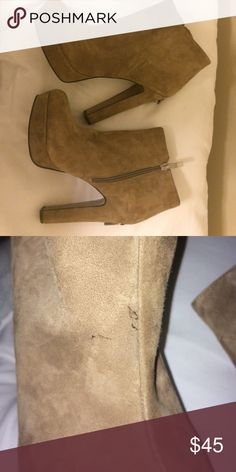 🆕 BCBGeneration heels Faux suede, flaws pictured. Bundle to save☺️ BCBGeneration Shoes