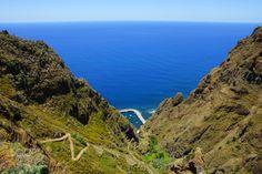 Atlantic Ocean & Paul do Mar in Madeira, Portugal.