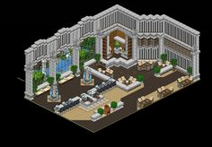 Habbo Hotel, Pixel Art, Rooms, Concept, Pocket, House Styles, Design, Decor, Rose Gold Wallpaper