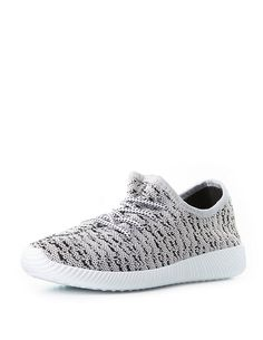 Marled Knit Lace-Up Sneakers | Charlotte Russe
