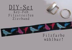 DIY+Schlüsselband+Set+Filz+Vögel+von+Schmuckstück+auf+DaWanda.com