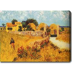 Vincent van Gogh 'Farmhouse in Provence' Oil on Canvas Art |