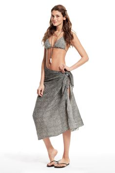 Take our quiz to discover your Spirit Print! Aretha Leopard Printed Cotton Gauze Sarong