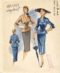 1950's Advance pattern for top and skirt