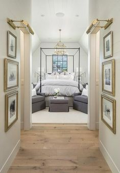 nice cool Bedroom Hallway with Gold Leaf Picture Frames and Brass Picture Lights - Tr... by http://www.best99homedecorpictures.us/transitional-decor/cool-bedroom-hallway-with-gold-leaf-picture-frames-and-brass-picture-lights-tr/