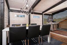 Kesäkeittiö Summer Kitchen, Patio, Conference Room, Table, Cottage Ideas, House, Arctic, Finland, Furniture