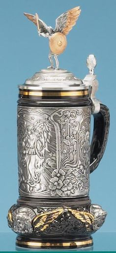 ARCHANGEL MICHAEL STEIN - Traditional Stoneware & Pewter Beer Steins - 1001BeerSteins.com