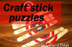 Daily Dose of Delight: Craft Stick Puzzles