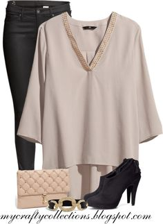 Blushing Night - Love this outfit! Would be perfect for a night out with the girls!