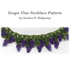 Grape Vine Necklace Pattern | Bead-Patterns