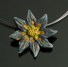 Shabby Chic Flower Necklace  Polymer Clay by mindfulmatters, $22.00