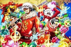 Shachi,Bepo,Penguin & Trafalgar D Water Law One Piece Fanart, One Piece Anime, Anime One, Itachi, Jean Bart, One Piece English, One Piece Images, The Pirate King, Trafalgar Law