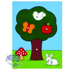 Quebra Cabeça Grande Árvore, Quebra Cabeça de Pinos de Madeira, Quebra Cabeça Pipoquinha, Brinquedos Pipoquinha, brinquedos educativos, brinquedos