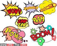 Comic Text Props Super hero clip art Pop Art Speech Bubble baby shower svg -437s Vinyl Sales, Comic Text, Blog Websites, Pop Art, Digital Stamps, Bubbles, Sell On Etsy, Bowser, Superhero