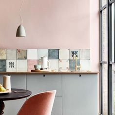 Monday Inspiration Beautiful Rooms - Mad About The House : little greene paint company light peach blossom and teal grey Bert and May Pink Paint Colors, Kitchen Paint Colors, Wall Colors, Wall Paint Inspiration, Monday Inspiration, Brighton, Murs Roses, Royal Pavilion, Mad About The House