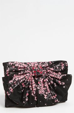 RED Valentino 'Lily of the Valley' Bow Clutch available at #Nordstrom