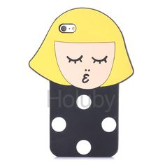 Cartoon Pattern Silicone Back Case for iPhone 6/ 6S - Little Girl
