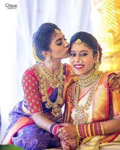 Indian Bridal Sarees, Bridal Silk Saree, Indian Bridal Fashion, Saree Wedding, Wedding Bride, Wedding Bells, Gold Wedding, Wedding Poses, Trendy Wedding
