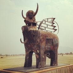 My friend Charlie Smith's amazing bull. #burningman