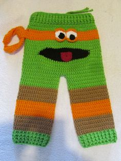 Michelangelo Ninja Turtle Monster Butt Pants