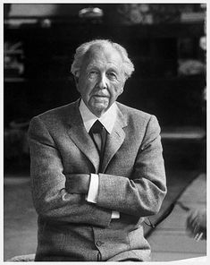 Frank Lloyd Wright, age 89 (1956). Photograph by Alfred Eisenstaedt at Taliesin for Time Magazine - published June 11, 1956.