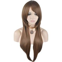 RightOn 28 Sexy Long Straight Wig for Women Girls Natural as Real Hair  Free Wig CapFree Comb Dark Brown ** Click affiliate link Amazon.com on image to review more details.