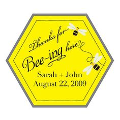 'Thanks for BEEing here' Stickers